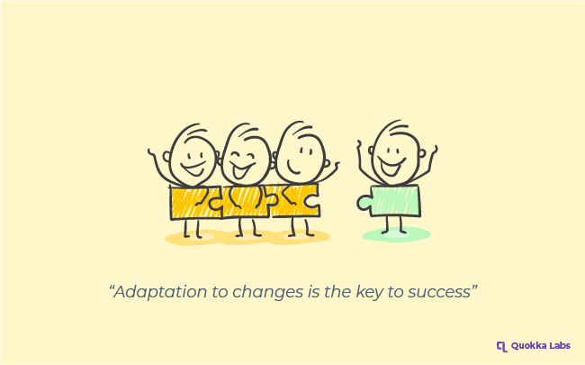 Adaption is the key to success